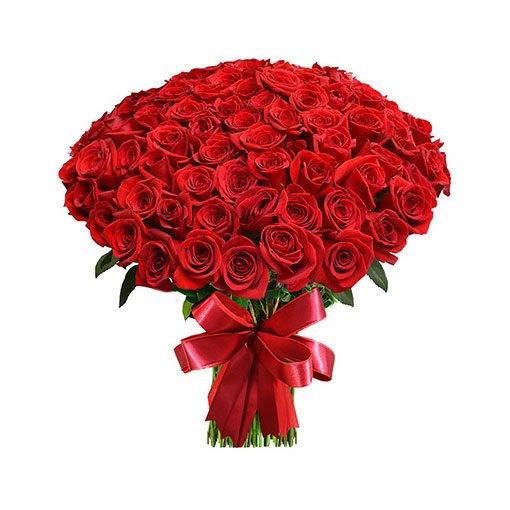 floricultura online e entrega de flores - Buquê 100 rosas vermelhas