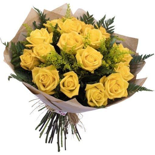 floricultura online e entrega de flores - rosas 18 rosas amarelas