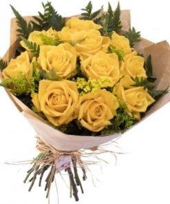 floricultura online e entrega de flores - buquê 12 rosas amarelas