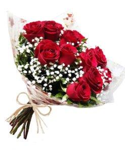 entrega de flores buquê te amo! 12 rosas vermelhas