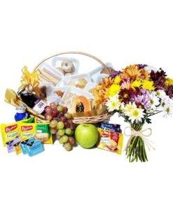 floricultura online e entrega de flores cesta de café da manhã e flores do campo