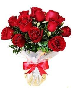 Floricultura e entrega de buquê de 18 rosas vermelhas