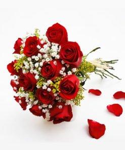 buquê 12 rosas vermelhas floricultura online e entrega de flores